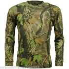 MENS LONG SLEEVE T-SHIRT COUNTRY CAMO BASE LAYER TOP SHOOTING HUNTING FISHING