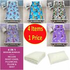 4 in 1 - CHILDREN'S BEDDING COT BED BUNDLE DUVET QUILT COVER JUNIOR KIDS TODDLER
