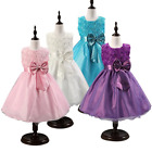Pageant Tulle Dresses Toddler Baby Girls Princess Flower Wedding Party Bow Dress