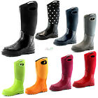 Women's Classic High Ultra Soft Neoprene Waterproof Rubber Rainboots Warm Shoes