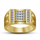 White Round Cubic Zirconia 14K Gold Plated In Sterling Silver New Style Ring