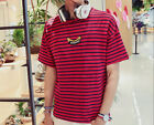 men's striped T-shirt bamboo cotton striped short-sleeved