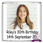 Personalised DIY Birthday Party Milk Chocolate Square Favours Gifts Your Picture