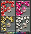 3D Nail Art Tips Decoration Red Pink Gold Silver Lips Alloy Jewelry Pearl