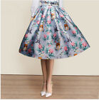Vintage women's big swing skirts High waist Country style