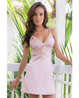 Coquette Satin & Powernet Triangle Underwire Cup Chemise Dust Rose Lingerie