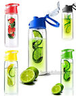 Fruit 800ML Infusion Infusing Infuser Water Bottle Sports Health Maker