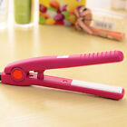 Portable New Mini Ceramic Hair Care Curl Straightener Flat Iron Perm Splint