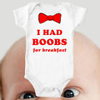 Custom Bodysuit Baby Vest Boobs Dad Cute Gift Funny ALL SIZES #15