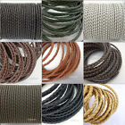 QUALITY Genuine Leather Braided Cord DIY Jewelry Necklace Bracelet Making String
