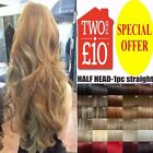 New Fashion 3/4 Full Head Clip in Synthetic Hair Extensions Long Curly Hair Hot