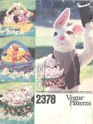 Vogue 2378 Easter Baskets and Transfers   Craft Sewing Pattern