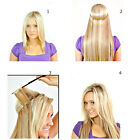 Invisible Remy Hair Extension Wire Headband Crown Extensions Thick Full 22''80G