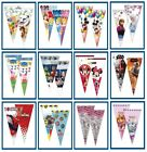 Cone Party Cello Bags - Sweet Candy Cones - Childrens Birthday Gift Favours Bag