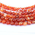 1Bunch Natural Red Striped Agate Round Gemstone Loose Spacer Beads 4-12MM