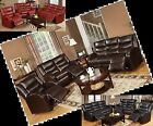 Leather sofa set Microfiber Reclining sofa furniture couch 3 Pc Living room set