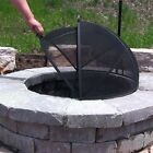 """Easy Access Hinged Spark Screen 7 Sizes 22"""" - 40""""  Fire Pit or Fire Ring"""