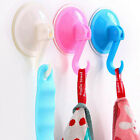 5PCS Colorful Plastic Wall Kitchen Bathroom Hooks Hanger Suction Cup Suckers