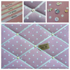 Clarke & Clark Dotty Spot Fabric Rose Pin/Memo/Notice Board Cork SMl LG XL