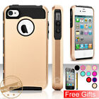 Shockproof Fitted Durable Hard Hybrid Protective Case Cover for iPhone 4/4S