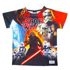 Childs Official Star Wars The Force Awakens T Shirt Kids Short Sleeved Tee Top