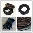 Genuine Leather Cord Thread For Bracelet Necklace DIY Jewelry Making 10/100M