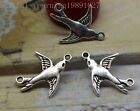 Free shipping 35/150pcs Alloy delicate lovely bird fashion charm connector