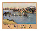 Australia - Sydney Harbour - Vintage Australian Travel Poster (reproduction)