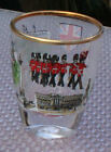 Shot Glass London England British Flag Clear Glass  Gold Rim Standing Guards