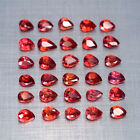 4x3mm. Lot 1,2,5,10pcs Perfect Pear Cut Calibrated Natural Orange Red SAPPHIRE
