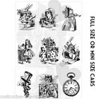 Alice in Wonderland PLAYING CARDS | Deco icing wafer Card Cake cupcake toppers