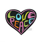 Peace Black Love Embroidered Sew Iron on Patch Badge Patches Sewing Applique