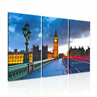 LONDON Big Ben Palace Of Westinster Canvas  ~ 3 Panels