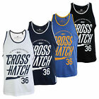 Crosshatch Monray Mens Sleeveless Vest Cotton Training Gym Muscle Back Tank Top