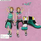 Ensemble Stars 2Wink Group Aci Hinata Cosplay Shoes Green short Boots B2679