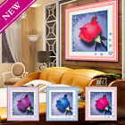 Rose Flower Embroidery Diamond Rhinestone Painting Cross Stitch Kits Home Decor