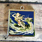 2x Seahorse MERMAID Fairy Art Glass Pendant Necklace