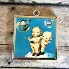 2x CUPID DOLL blow bubble Glass Charm Pendant Necklace