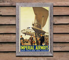 Imperial Airways #5 Switzerland - Vintage Airline Travel Poster