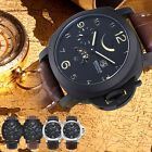 Men's Watches Quartz Casual Analog Leather Automatic Sport Wrist Watch