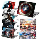 Laptop Hard Case Captain America Painted + Keyboard Cover For Macbook Pro Air