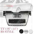 TTRS SPORT HONEYCOMB MESH FRONT HOOD GRILLE for AUDI TT TTS 06-14 4 VERSIONS