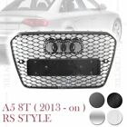 RS5 HONEYCOMB SPORT FRONT MESH HOOD GRILLE for AUDI A5 S5 8T 13-ON 4 VERSIONS