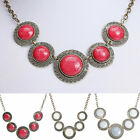 1PC New Dream Round Resin Bib Choker Chunky Pendent Statement Necklace Jewelry