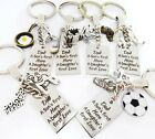 Keyring - DAD,A Son's First Hero..Football,fishing,Fathers day gift, tools, golf