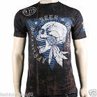 Affliction Prayer Of Destruction A8044 Men's T-shirt Tee Black