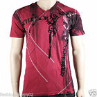Affliction Shaman A8167 Men's T-shirt Tee Dirty Red