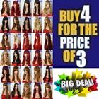 Brown Red Black Blonde Plum Long Straight Curly Wavy Costume Fashion Ladies Wig