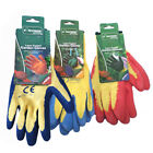 Small, Medium & Large Latex Coated Garden Work Gloves - Multiples available