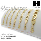 """14K GOLD PLATED GUCCI LINK MARINA NECKLACE CHAIN (4-12mm)w/ (8""""/9""""/20""""/24""""/30"""")  image"""